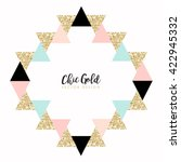 modern chic gold background... | Shutterstock .eps vector #422945332