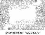 abstraction of frost on a white ... | Shutterstock .eps vector #42295279