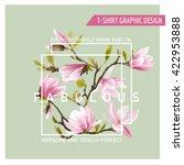 floral graphic design. magnolia ...   Shutterstock .eps vector #422953888
