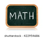 math   chalk text on 3d... | Shutterstock . vector #422954686
