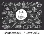 fruit and vegetables doodle | Shutterstock .eps vector #422959012