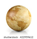 vintage globe isolated  3d... | Shutterstock . vector #422959612