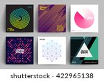 set of backgrounds with trendy... | Shutterstock .eps vector #422965138