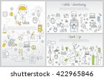hand drawn business ideas... | Shutterstock .eps vector #422965846