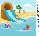 children summertime vacation... | Shutterstock .eps vector #422970976