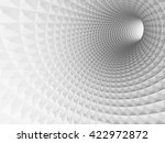 abstract white tunnel 3d... | Shutterstock . vector #422972872