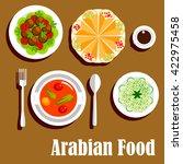 vegetarian shawarma wrap... | Shutterstock .eps vector #422975458