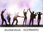 dancing people silhouettes | Shutterstock .eps vector #422984092