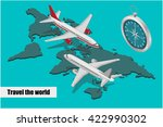 travel isometric composition.... | Shutterstock .eps vector #422990302