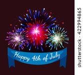 4th july fireworks background ... | Shutterstock .eps vector #422994865