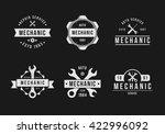 black mechanic logo set | Shutterstock .eps vector #422996092