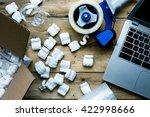 preparing for moving. packing  ...   Shutterstock . vector #422998666