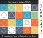 floral frames collection.... | Shutterstock .eps vector #423001342