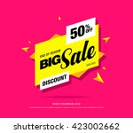 bright vector sale banner | Shutterstock .eps vector #423002662