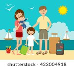 the family has arrived to... | Shutterstock .eps vector #423004918