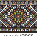 embroidered good like old... | Shutterstock .eps vector #423006058