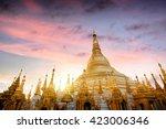 Shwedagon Pagoda At Sunset ...