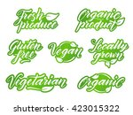 hand drawn healthy food... | Shutterstock . vector #423015322