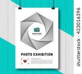photo exhibition design... | Shutterstock .eps vector #423016396