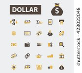 dollar icons  | Shutterstock .eps vector #423022048
