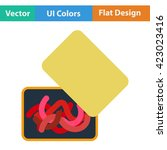 flat design icon of worm...