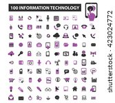 information technology icons  | Shutterstock .eps vector #423024772