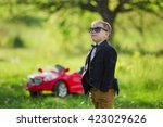 boy in sunglasses | Shutterstock . vector #423029626