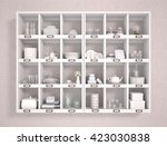 3d illustration of various... | Shutterstock . vector #423030838
