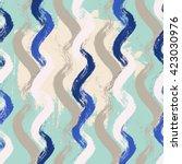 brushstroke shapes pattern... | Shutterstock .eps vector #423030976