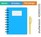 flat design icon of exercise...