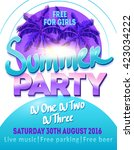 dj summer party  night club... | Shutterstock .eps vector #423034222