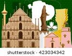 easy to edit vector... | Shutterstock .eps vector #423034342