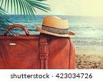 concept of summer traveling... | Shutterstock . vector #423034726