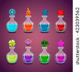 set bottles with different... | Shutterstock .eps vector #423039562