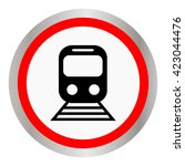 train vector icon | Shutterstock .eps vector #423044476