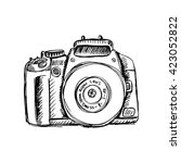 camera in sketchy style | Shutterstock .eps vector #423052822