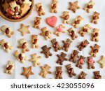 homemade bear cookie with almond | Shutterstock . vector #423055096