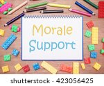 kids and children theme. morale ... | Shutterstock . vector #423056425