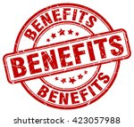 benefits. stamp | Shutterstock .eps vector #423057988
