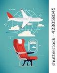 creative vector airline travel  ... | Shutterstock .eps vector #423058045