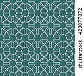 arabian traditional pattern... | Shutterstock .eps vector #423077872