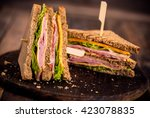 Club Sandwiches On The Table