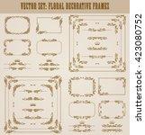 vector set of decorative hand... | Shutterstock .eps vector #423080752