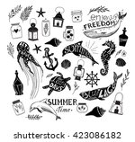 hand drawn vector illustration  ... | Shutterstock .eps vector #423086182