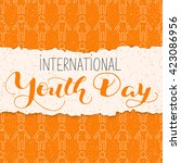 international youth day  ... | Shutterstock .eps vector #423086956