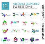 abstract geometric business... | Shutterstock .eps vector #423092386