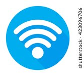 wifi icon vector flat network...