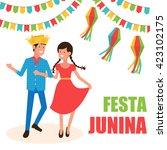 festa junina   june party.... | Shutterstock .eps vector #423102175