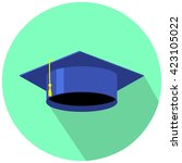 graduation cap for day vector... | Shutterstock .eps vector #423105022