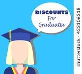 discounts for graduates vector...   Shutterstock .eps vector #423106318